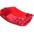 LEGO Transparent Red Wedge 6 x 8 x 2 Triple Inverted (41761)