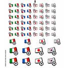 LEGO Transparent Sticker Sheet for Set 3406 (22918)