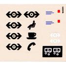 LEGO Transparent Sticker Sheet for Set 4554