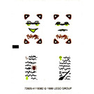 LEGO Transparent Sticker Sheet for Set 5804 / 5962 (72605)