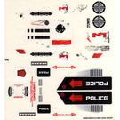 LEGO Transparent Sticker Sheet for Set 5973 (86906)