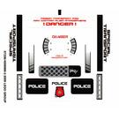 LEGO Transparent Sticker Sheet for Set 5979 (87236)