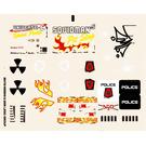 LEGO Transparent Sticker Sheet for Set 5980 (86478)