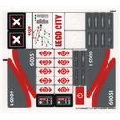 LEGO Transparent Sticker Sheet for Set 60051 (15113)