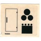 LEGO Transparent Sticker Sheet for Set 6365