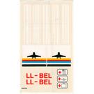 LEGO Transparent Sticker Sheet for Set 6392