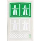LEGO Transparent Sticker Sheet for Set 6653