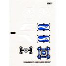 LEGO Transparent Sticker Sheet for Set 70013 (13384)