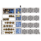 LEGO Transparent Sticker Sheet for Set 70810 (16467 / 23921)