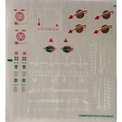 LEGO Transparent Sticker Sheet for Set 70816 (17608)