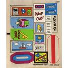 LEGO Transparent Sticker Sheet for Set 71006 (16829)