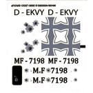 LEGO Transparent Sticker Sheet for Set 7198 (86428)
