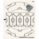 LEGO Transparent Sticker Sheet for Set 76003 (14647)