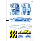 LEGO Transparent Sticker Sheet for Set 76018 (17213)