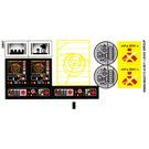 LEGO Transparent Sticker Sheet for Set 7879 (95692)