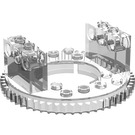 LEGO Transparent Top for Turntable with Technic Bricks Attached (2855)