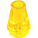 LEGO Transparent Yellow Cone 1 x 1 without Top Groove (4589 / 6188)
