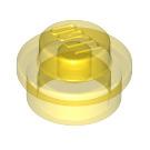 LEGO Transparent Yellow Plate 1 x 1 Round (6141 / 30057 / 34823)