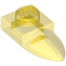 LEGO Transparent Yellow Plate 1 x 1 with Tooth (35162 / 49673)