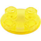LEGO Transparent Yellow Plate 2 x 2 Round with Rounded Bottom (2654 / 28558 / 54196)