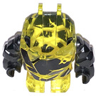 LEGO Transparent Yellow Rock Monster Body (Torso/Legs with Black Arms)