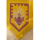 LEGO Transparent Yellow Tile 2 x 3 Pentagonal with Toad Power Shield