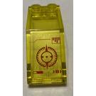 LEGO Transparent Yellow Windscreen 5 x 2 x 1 & 2/3 with crosshairs pattern Sticker