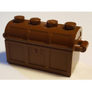 LEGO Treasure Chest (Thin Hinge with No Slots in Back)