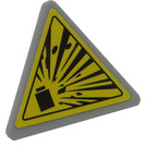 LEGO Triangular Sign with Clip with Explosive Sticker (30259 / 39728)