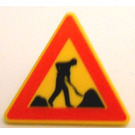 "LEGO Triangular Sign with Clip with ""Men at Work"" (30259)"