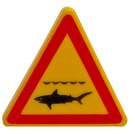 LEGO Triangular Sign with Clip with Shark Warning (30259)
