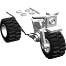 LEGO Tricycle, complete with White Wheels and Dark Gray Chassis