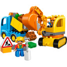 LEGO Truck & Tracked Excavator Set 10812