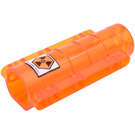 LEGO Tube End with 'High Risk Area' Sticker (58947)