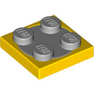 LEGO Turntable 2 x 2 with Medium Stone Gray Top (74340)