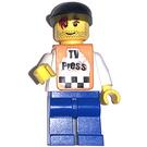 """LEGO """"TV Press"""", Black Cap Minifigure"""