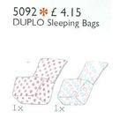 LEGO Two Duplo Sleeping Bags Set 5092