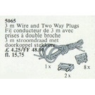 LEGO Two-Way Plugs and Cable 3.0 m Set 5065