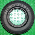 LEGO Tyre Ø68,8 X 24 with Inlet Disc (32003)