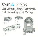 LEGO Universal Joint, Differential Housing and Gear Wheels Set 5245