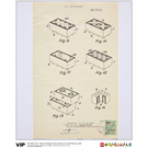 LEGO Belgian Patent for Elements 1958 (5005996)