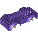 LEGO Vehicle Base with Medium Stone Gray Wheel Holders (12622)