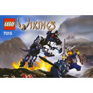 LEGO Viking Warrior challenges the Fenris Wolf Set 7015