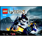 LEGO Viking Warrior challenges the Fenris Wolf Set 7015 Instructions
