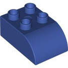LEGO Violet Duplo Brick 2 x 3 with Curved Top (2302)