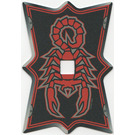 LEGO Vladek's Shield with Scorpion Pattern (Plastic)