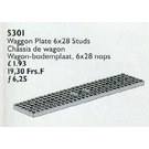 LEGO Wagon / Carriage Plate 6 x 28, Grey Set 5301