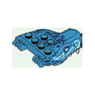 LEGO Water Dragon Upper Jaw with Water Swirl Decoration
