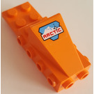 LEGO Wedge 2 x 3 with Brick 2 x 4 Side Studs and Plate 2 x 2 with Arctic Logo Sticker (2336)