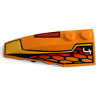 LEGO Wedge 2 x 6 Double Left with Decoration from set 4584 (41748)